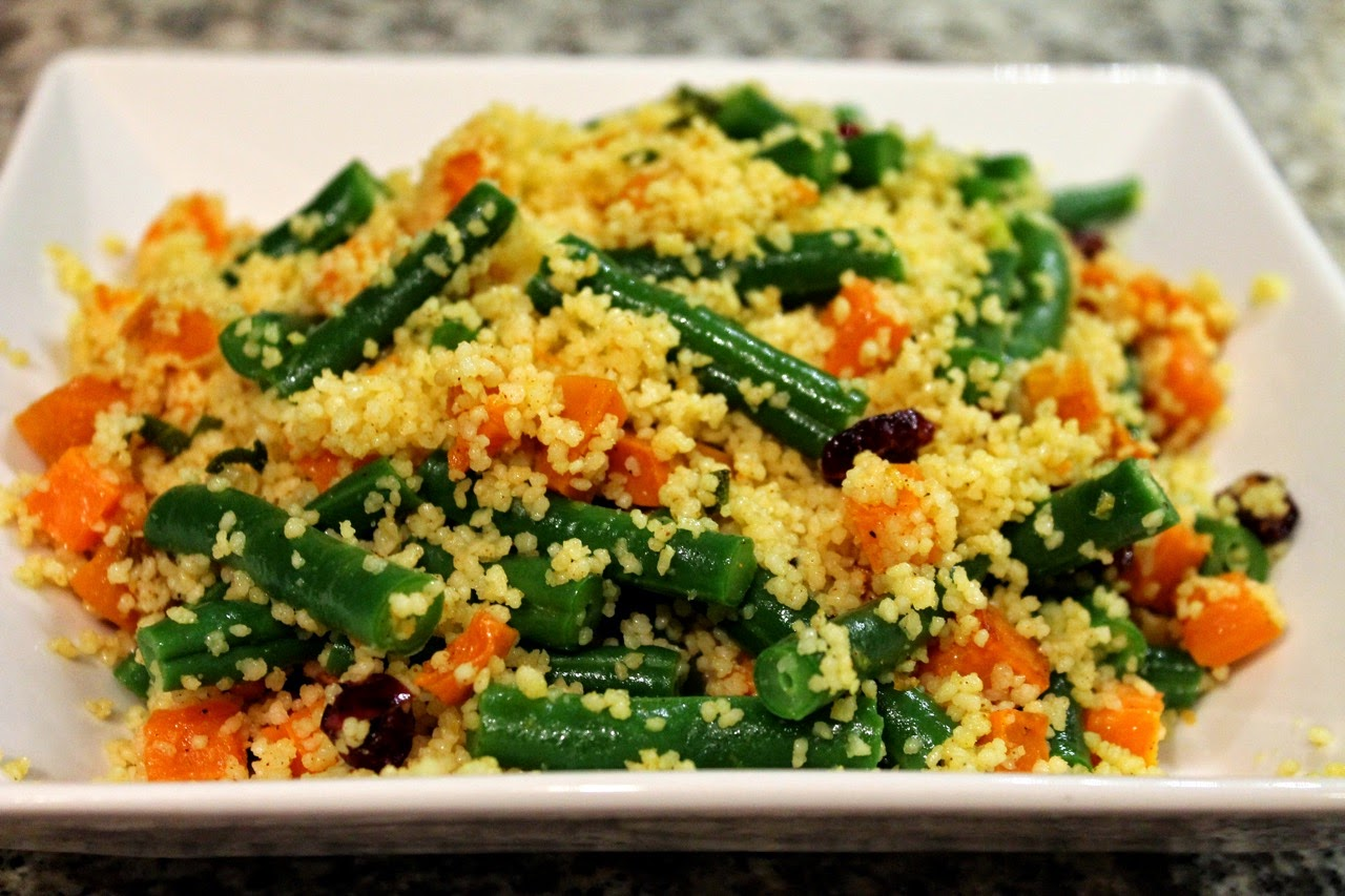 North African Green Bean and Sweet Potato Couscous Salad