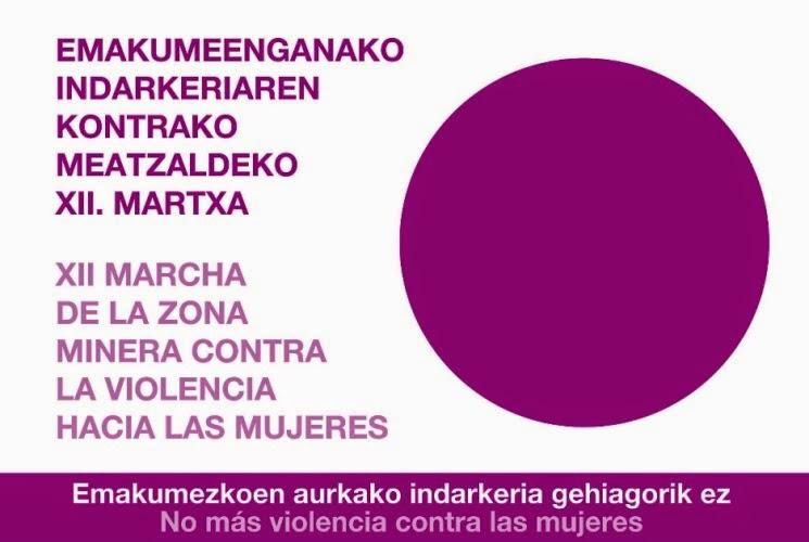 Meatzalde participará en la XII marcha contra la violencia hacia las mujeres