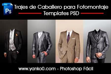 Trajes de Caballero, Fotomontaje, Templates PSD