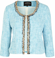 Blue Tweed Jacket RIverisland