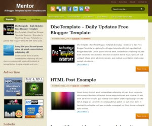 Mentor Blogger Template