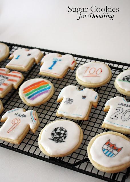 vegan doodle sugar cookies