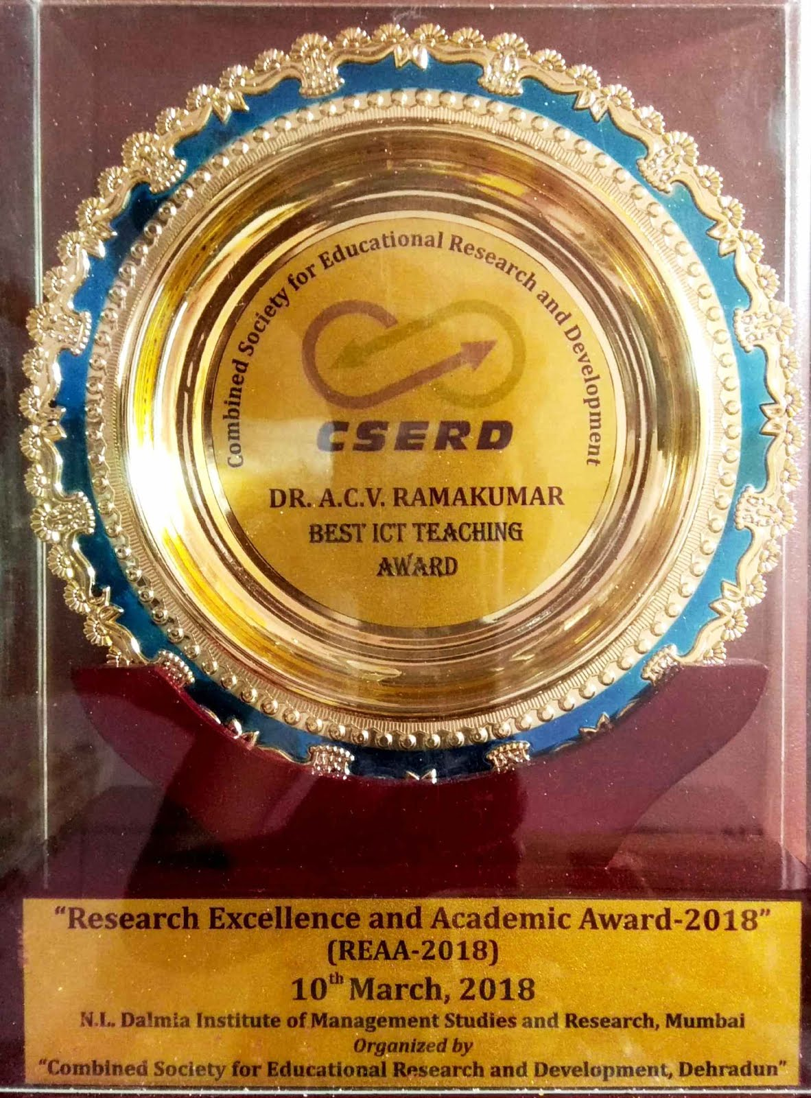 """BEST ICT TEACHING AWARD"""