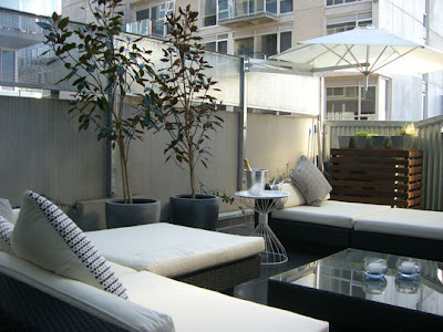 Decoraci n de interiores decoracion de terraza for Mobiliario terraza pequena