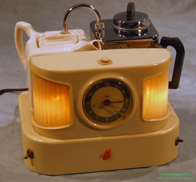 Single Serving Coffee Maker Alarm Clock : roses over a cottage door: A Teasmade
