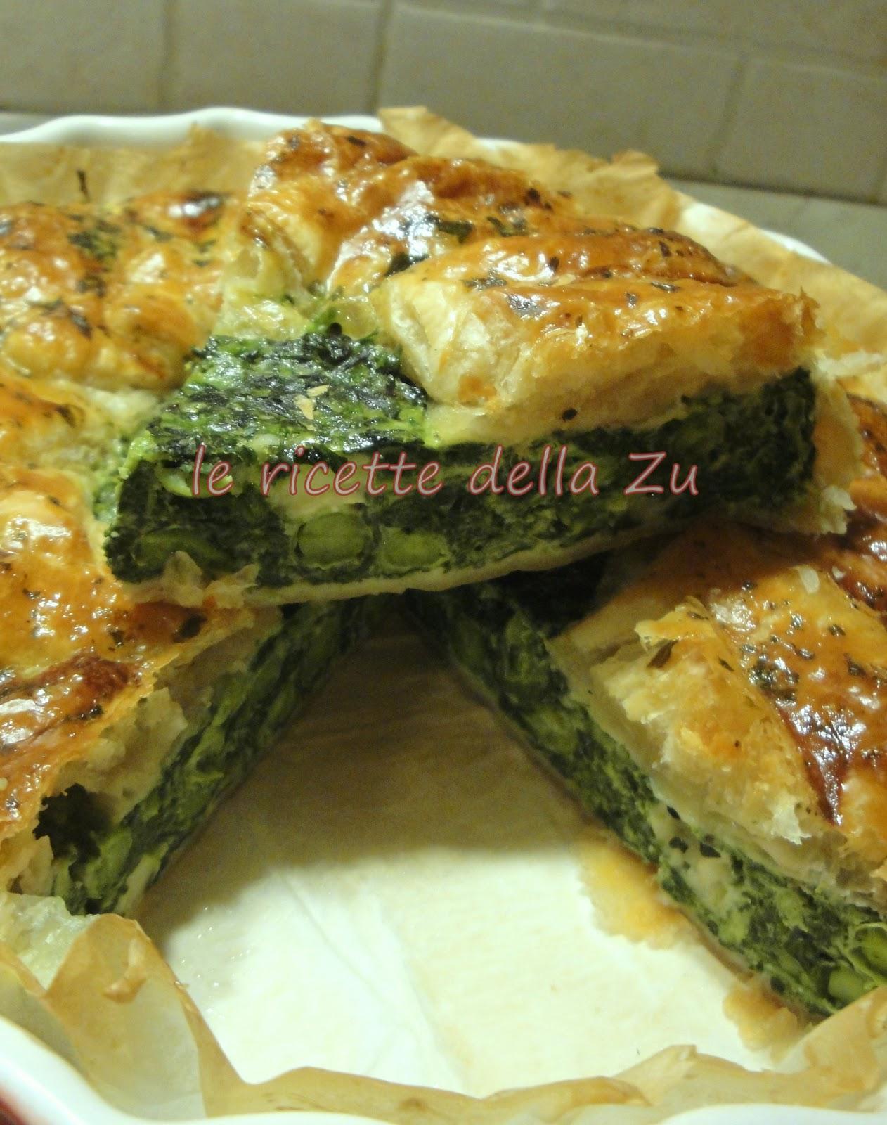 Torta salata di verdure e ricotta