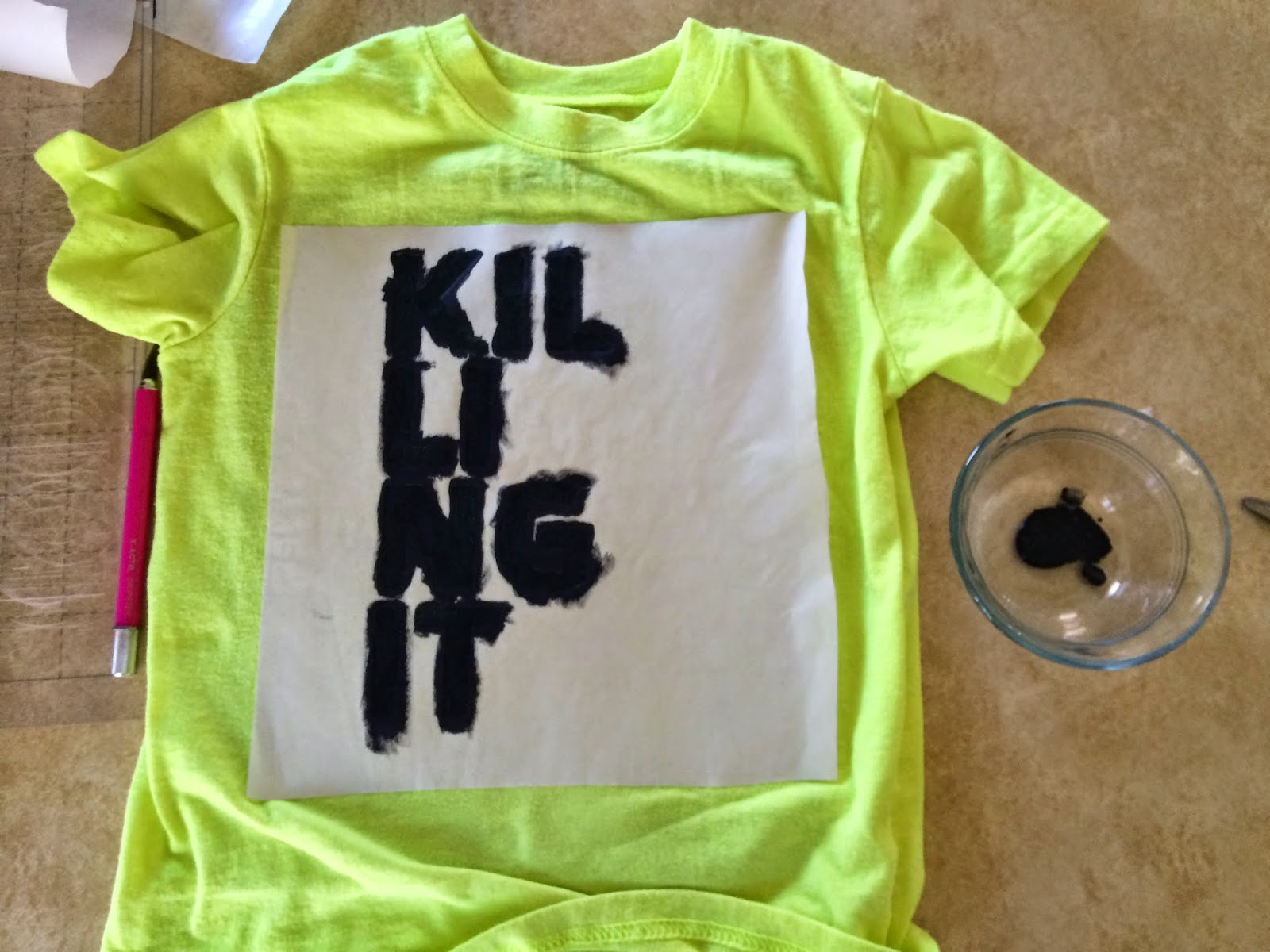 killing it neon shirt