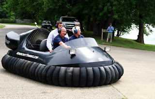 Larry Bucshon hovercraft ride