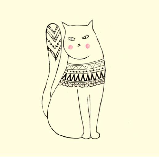 Cat Illustration Tumblr Cute Doodles Tu...