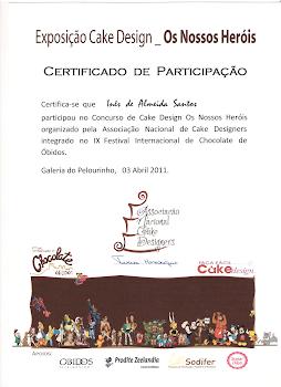 Certificado de Participação - Os nossos Herois