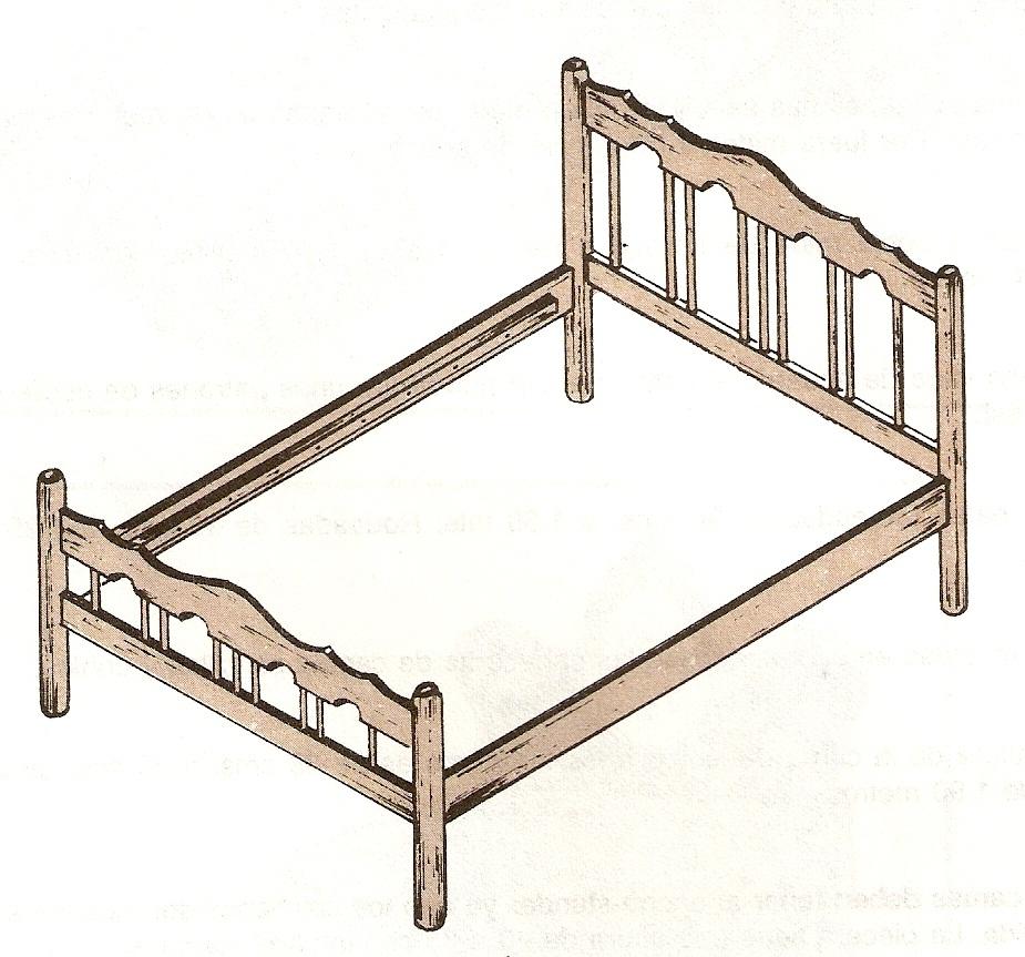 Muebles domoticos como se hace una cama en madera partes for Medidas para cama individual