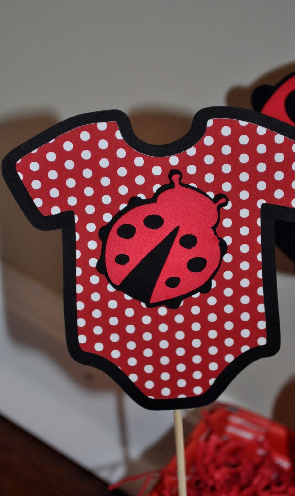 creations ladybug baby shower centerpiece