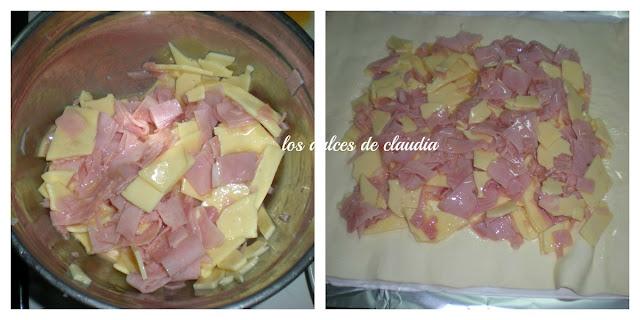 Empanada de jamon y queso