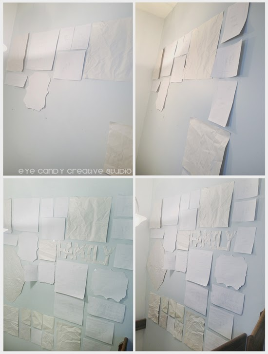 layout of gallery wall, tips for gallery wall, newsprint layout on photo gallery