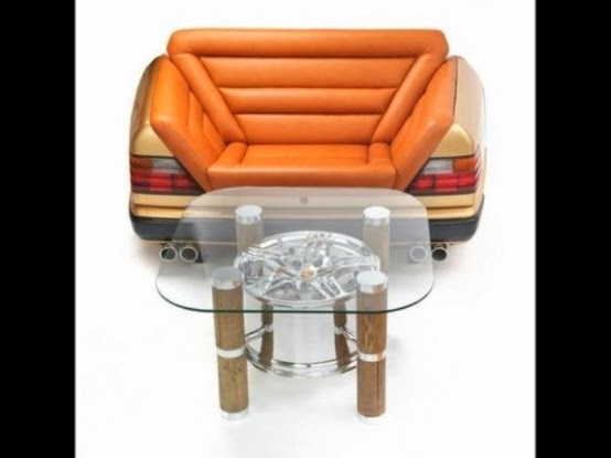 Car Auto Body Parts Classic Collection Of Furniture Made From Car Junks
