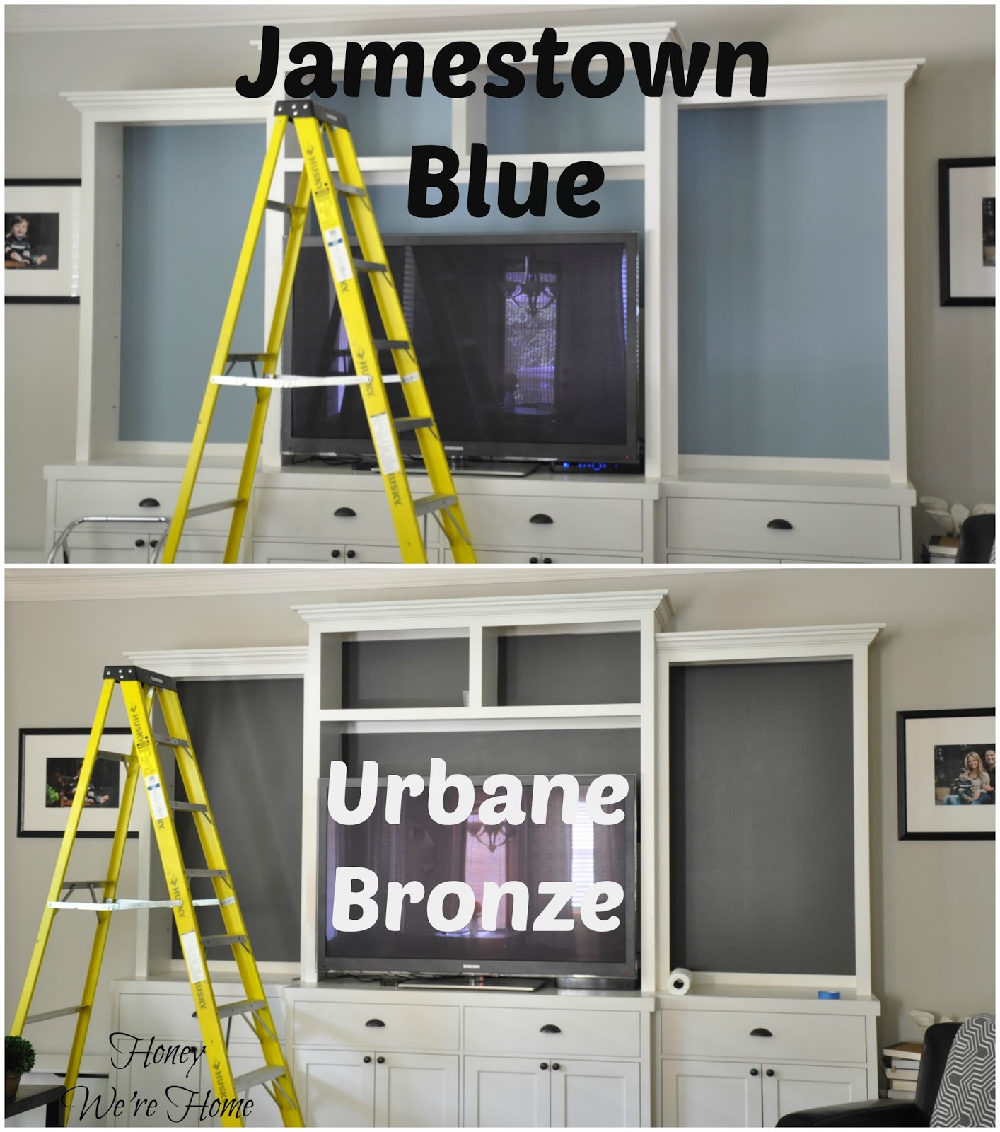 I Did Not Prime Or Paint White Over The Blue, Just Applied Two Coats Of The  Urbane Bronze.