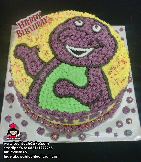 Kue Tart Ulang Tahun Barney Surabaya - Sidoarjo