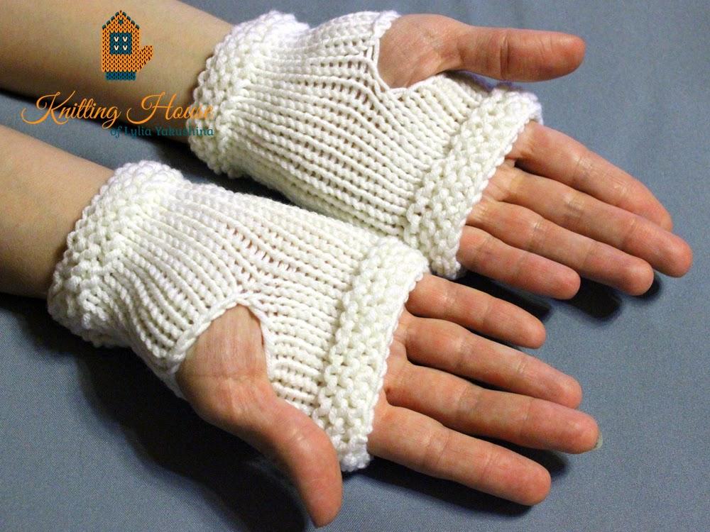 митенки вязаные, перчатки, митенки короткие, митенки на заказ
