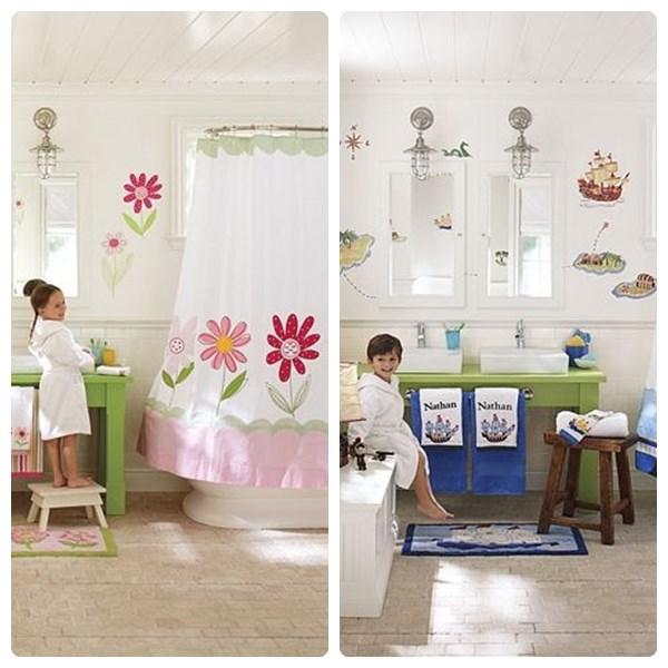 Baños Infantiles Diseno:quí tenéis dos opciones: un baño para niñas y un baño para niños