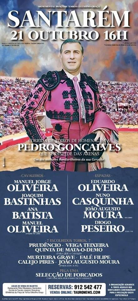 SANTARÉM (PORTUGAL) 21 DE OUTUBRO DESPEDIDA DE PEDRO GONÇALVES.