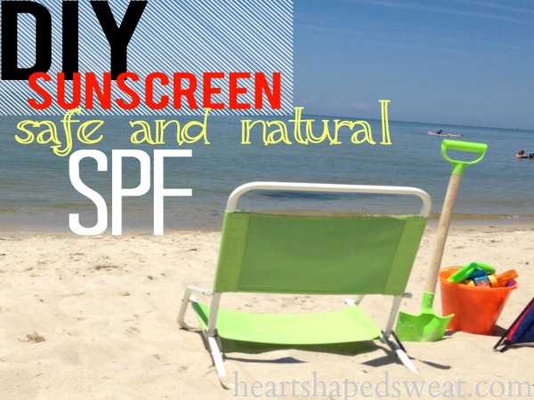 DIY sunscreen, safe and natural sunscreen