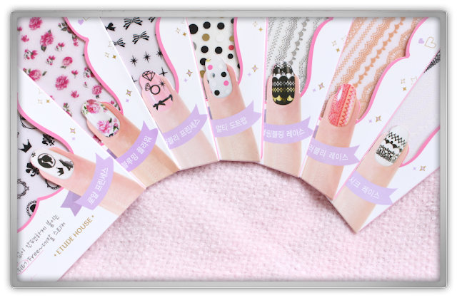 Etude House Sweet Water Free Decal Nail Stickers haul review Lovely Lace Multi Dot Pop Blooming Flower Royal Princess Bling Chic