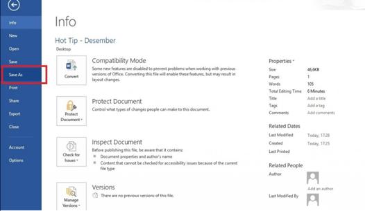 Cara pertama proteksi file pdf