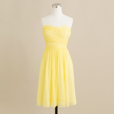 Yellow bridesmaid summer dresses cute dresses j crew for J crew beach wedding dress