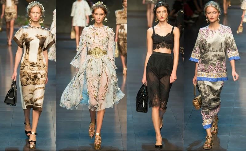 (ph/Style.com) Dolce&Gabbana spring 2014