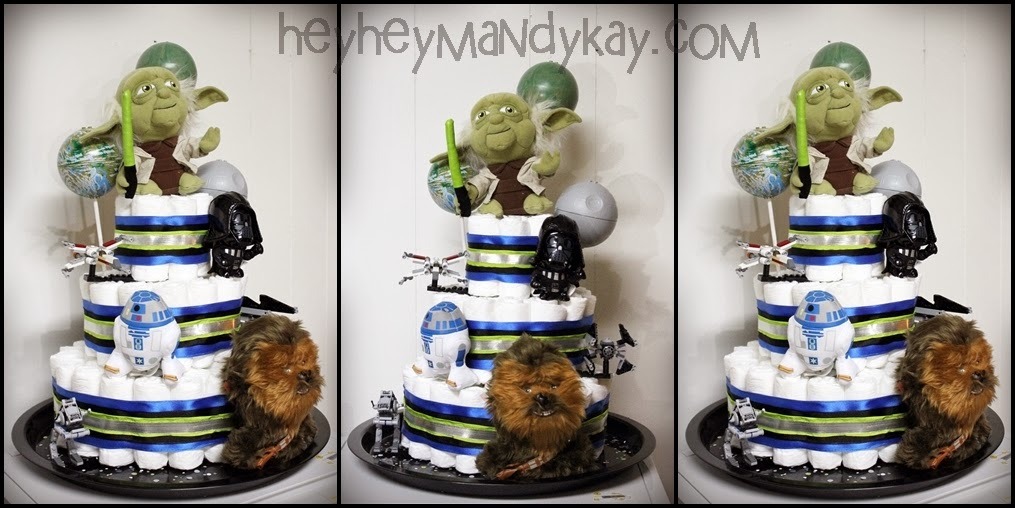 ... Star Wars Themed Baby Shower. Apologize For The Poor Cell Phone Photos  Of The Invite, I Apparently
