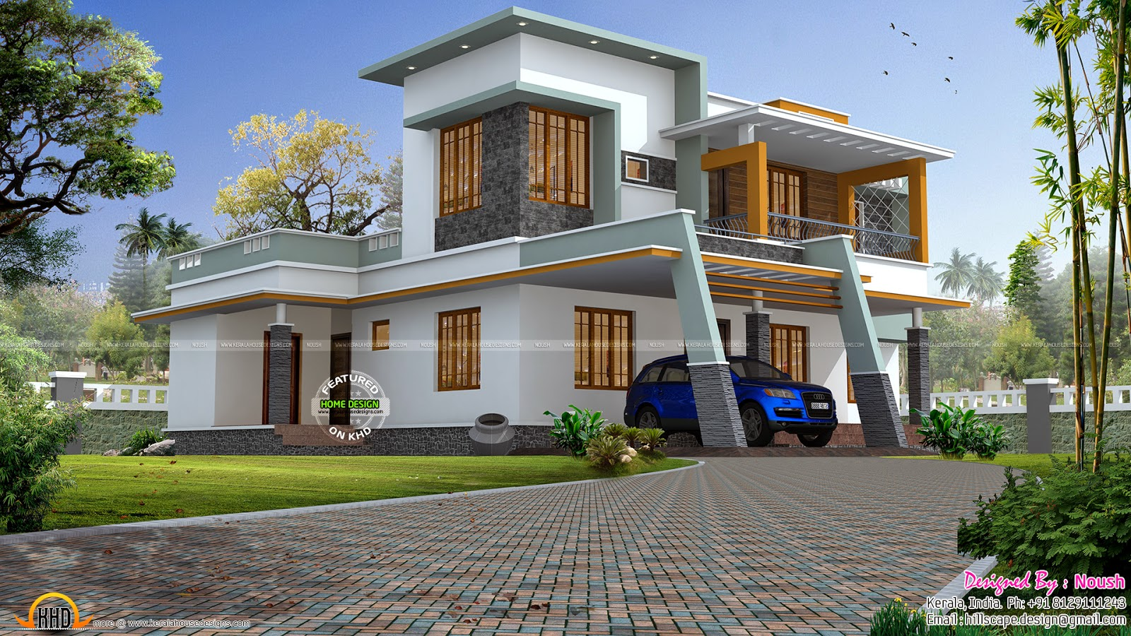 Box style house kerala home design and floor plans for Types house designs