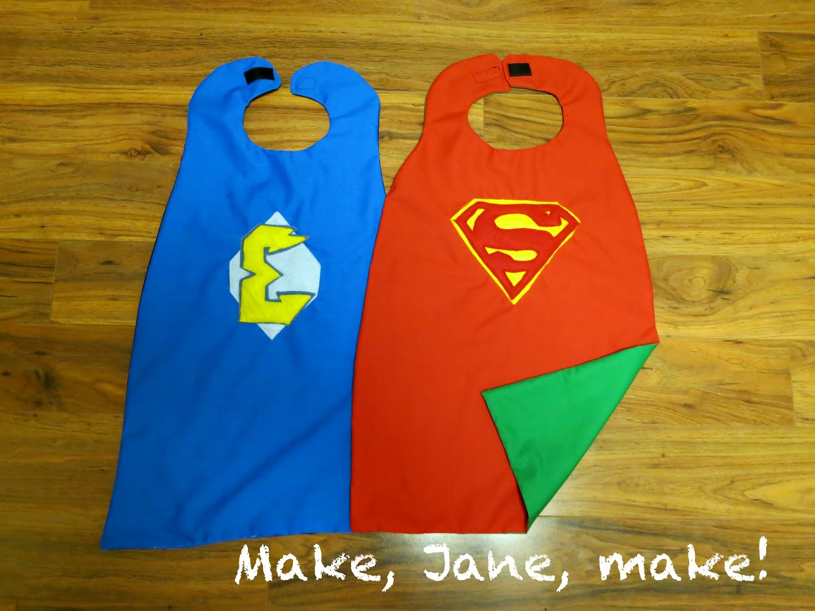 Make jane make reversible superhero cape how to diy superman cape pronofoot35fo Image collections