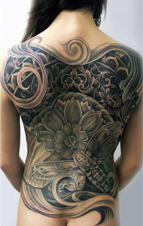 create mytattoo several ideas of back tattoo for women