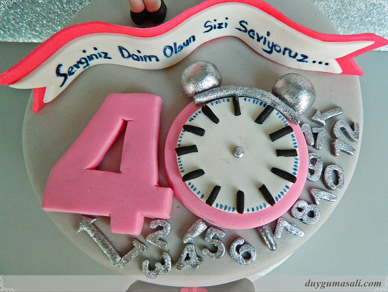 yetişkin yıl dönümü pastası