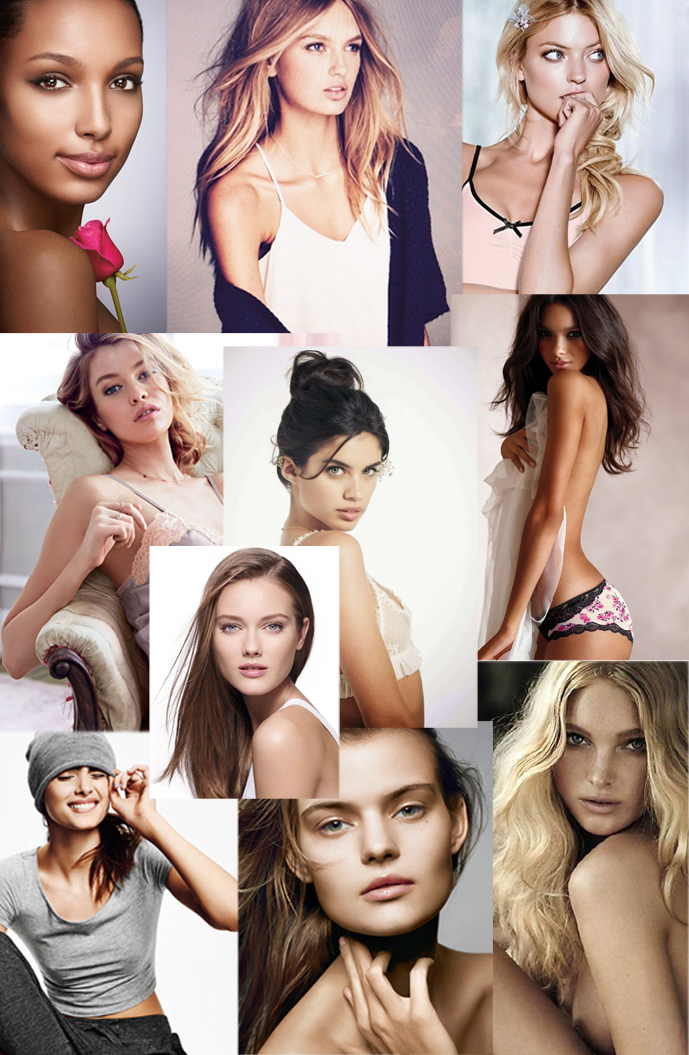 Rome Strijd, Stella Maxwell, Kate Grigorieva, Taylor Hill, Elsa Hosk, Martha Hunt, Monica Jagaciak, Lais Ribeiro, Sara Sampaio and Jasmine Tookes / Victoria's Secret Angels / via fashioned by love