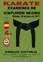 Convocatoria Examen C Negro RFEKDA