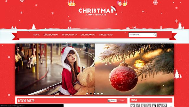 Christmas Responsive Blogger Template