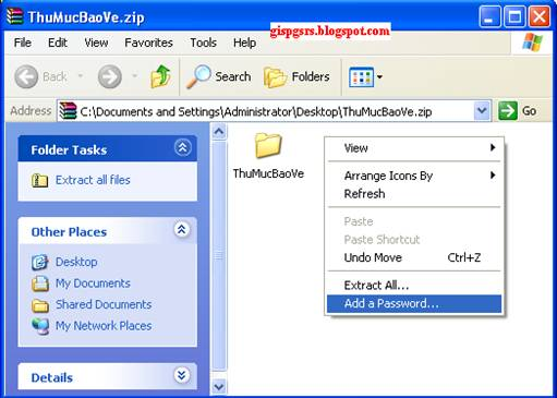 how to open a compressed zip folder with password