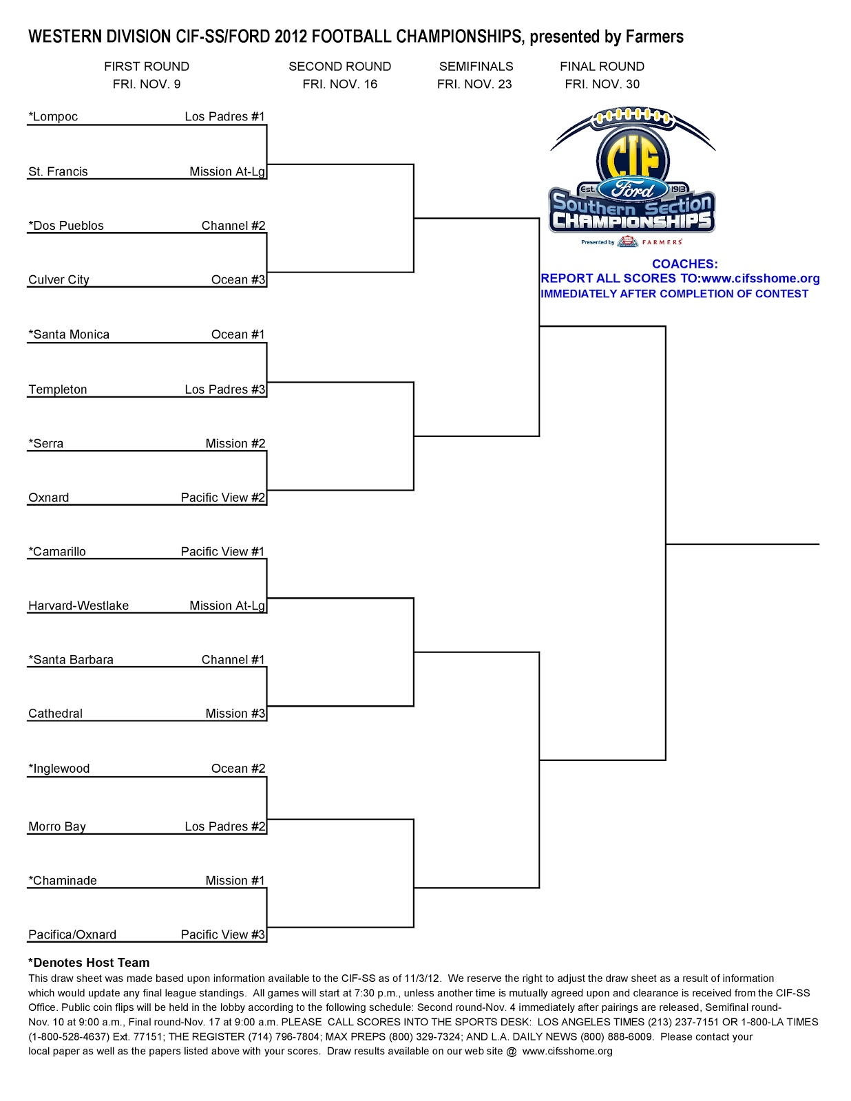 update playoffs are 2013 cif football playoff brackets for an 2013 cif