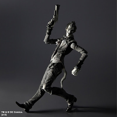 San Diego Comic-Con 2012 Exclusive Black and White Edition Batman: Arkham Asylum Action Figures by Play Arts Kai - The Joker