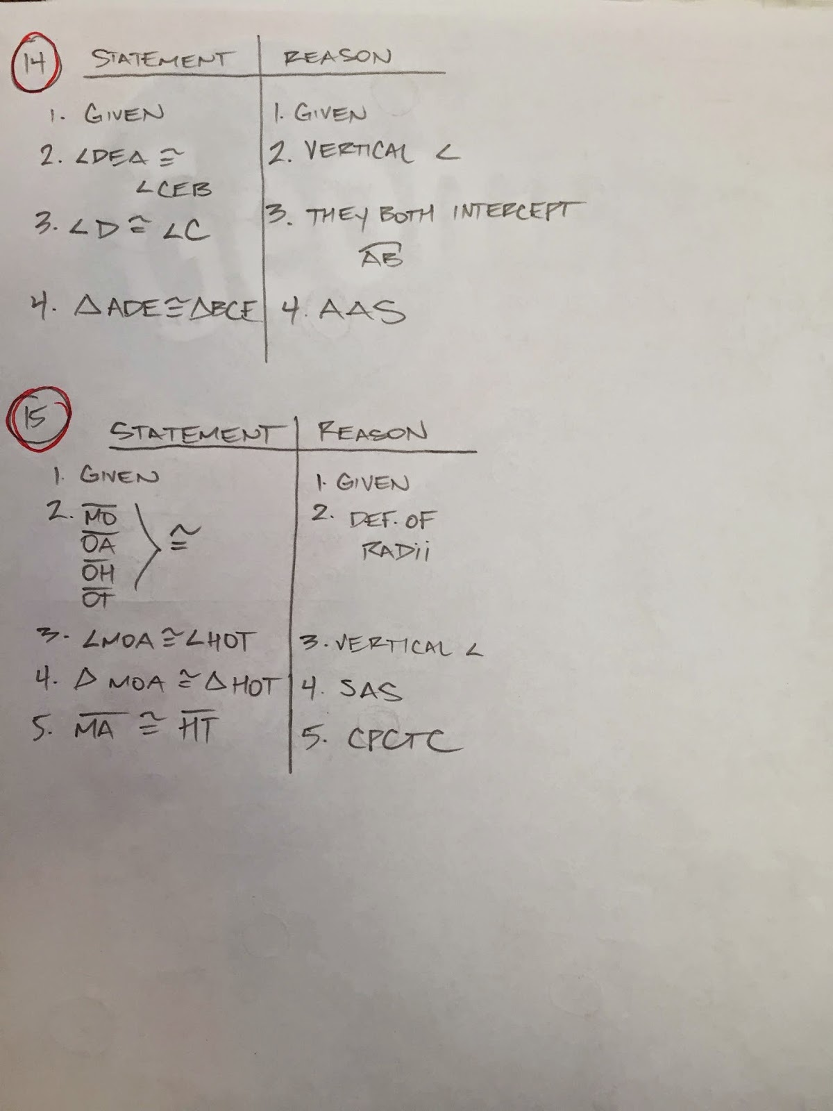 geometry honors chapter 2 study guide