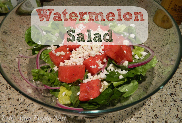 Savory Watermelon Salad from LifeAfterEmptyNest.com