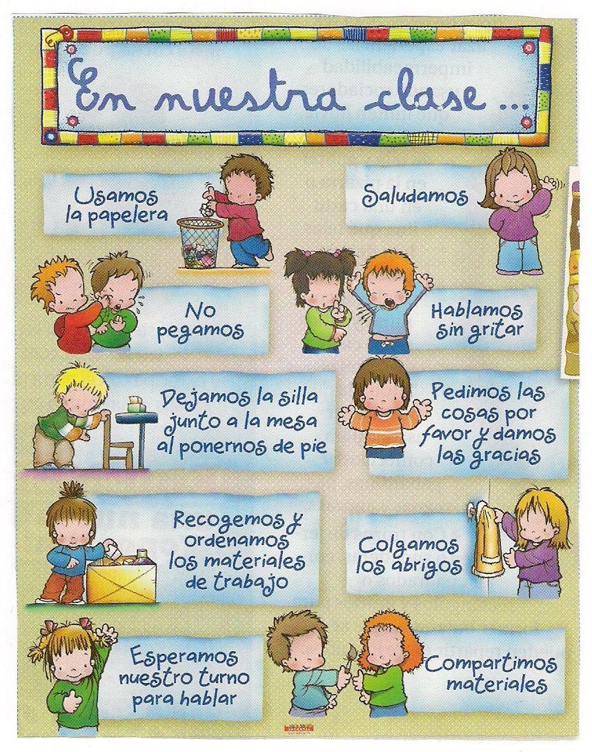 Sandra primaria castellana e ingl s normas de nuestro for 10 reglas del salon de clases en ingles