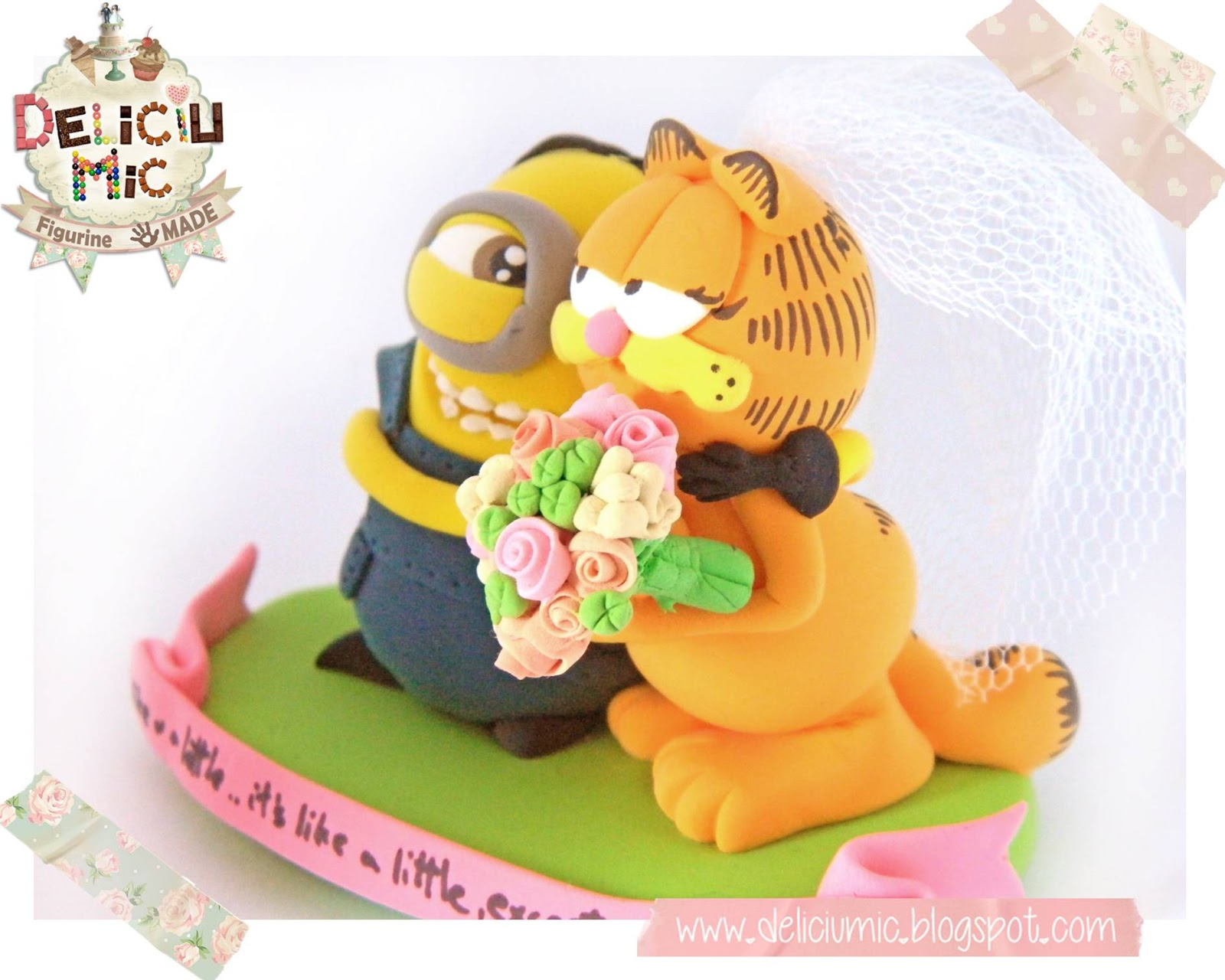 Figurine de tort Minion Garfield