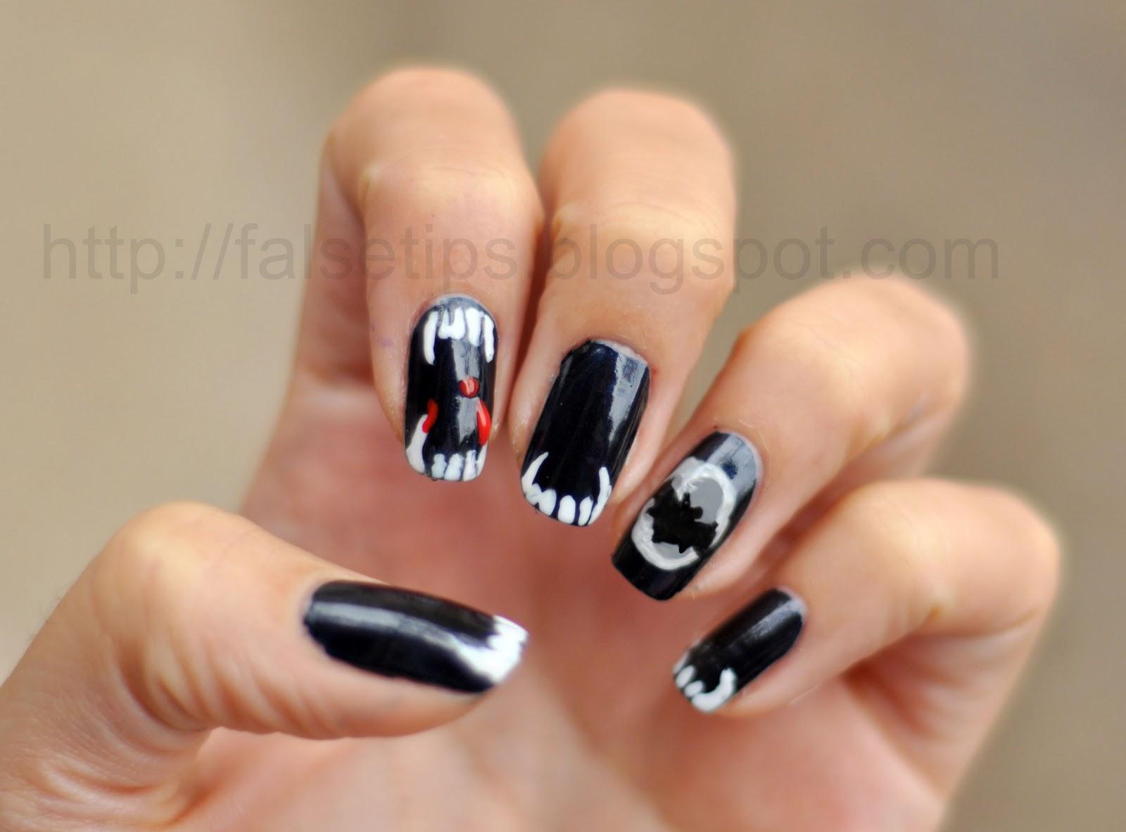 Halloween Vampire Teeth Nail Art   Sebi Bebi