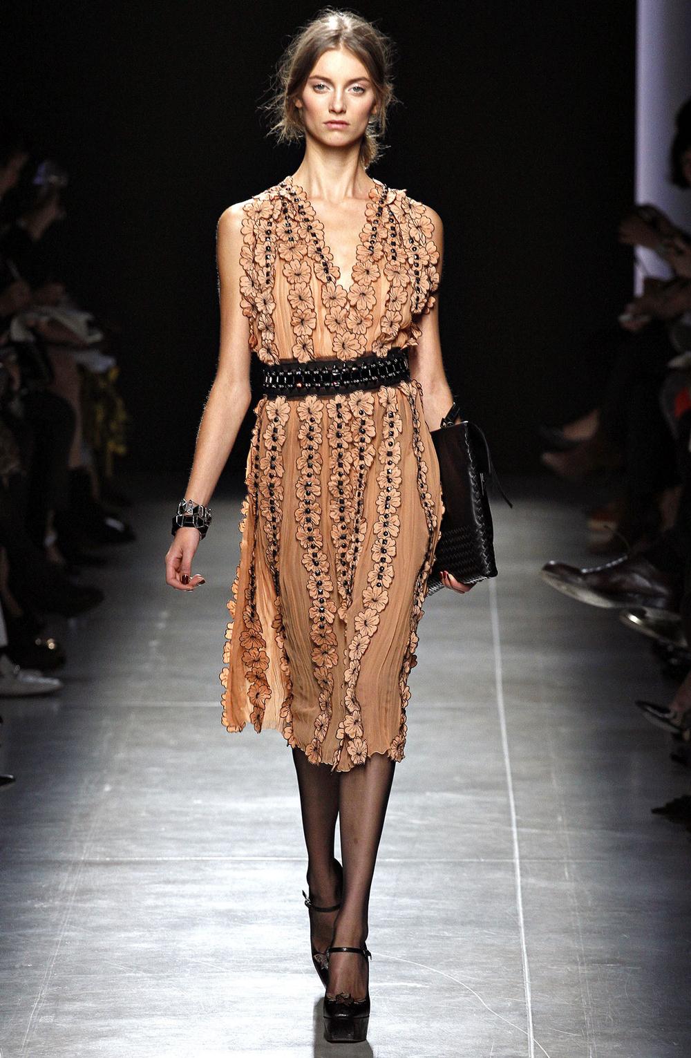 Bottega Veneta floral dress Spring/Summer 2013 collection, designer look for less