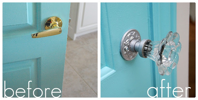 Love my aqua ish door but i wanted a really cool doorknob to jazz
