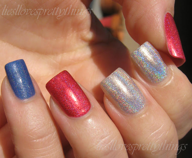 Independence Day holo manicure