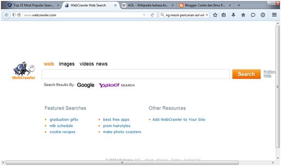 Mesin pencarian webcrawler.com