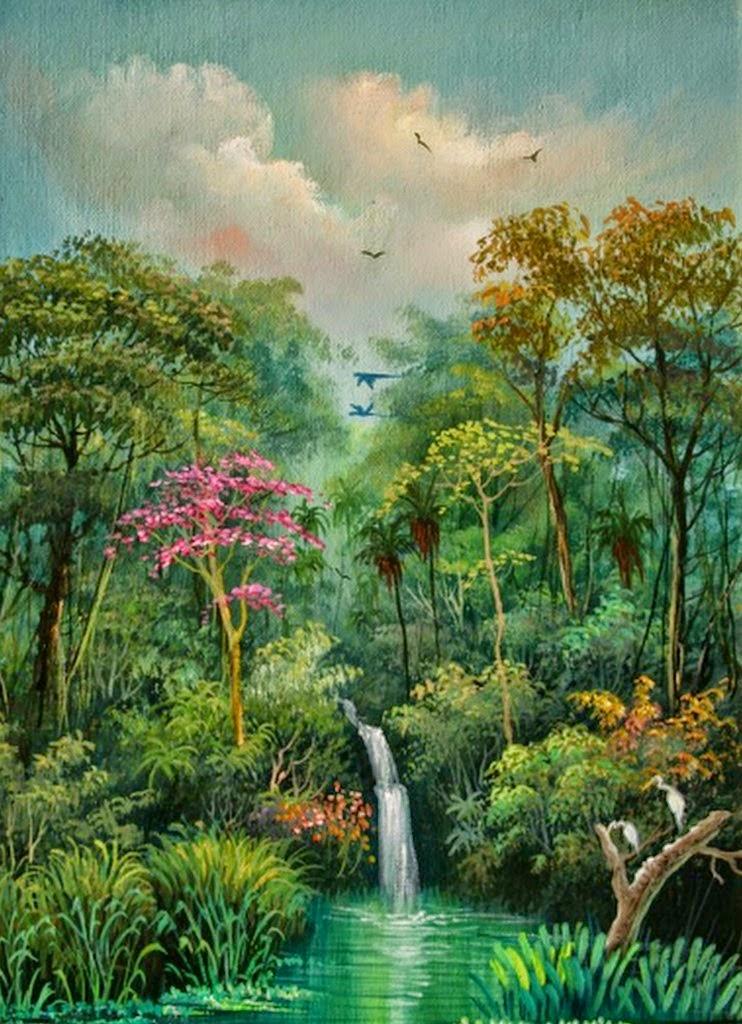 cuadros-paisajes-del-amazonas-con-aves